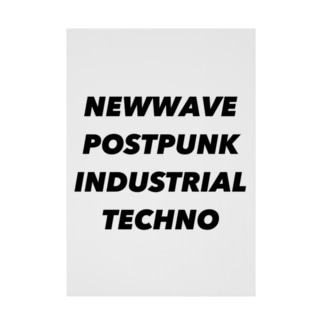 NEWWAVE POSTPUNK INDUSTRIAL TECHNO Stickable poster