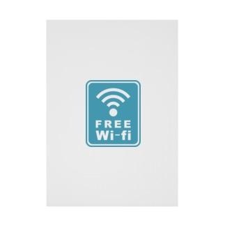 ひのぱnoお店のFREE Wi-fi Stickable tarpaulin
