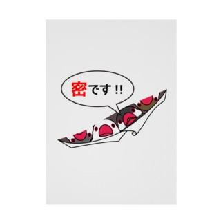 密です!フィンチさん【まめるりはことり】 Stickable poster
