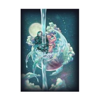 空に浮かぶ人魚 Stickable poster