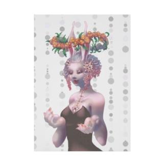 うさ耳の女性 Stickable poster