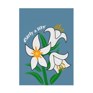 early a lily Stickable tarpaulin