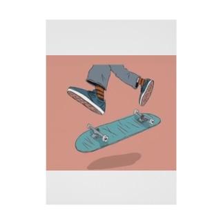 スケートボード Stickable poster