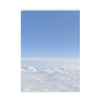 雲の上 Stickable tarpaulin