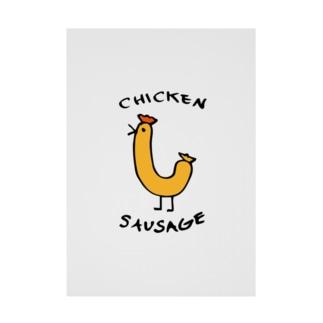 Chicken Sausage Stickable tarpaulin
