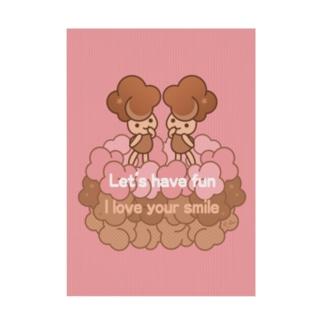Choco pop girl☆PK Stickable tarpaulin