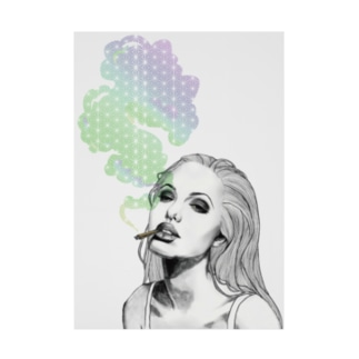 Smoking Girl Stickable poster