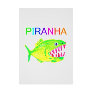 ピラニア Stickable poster