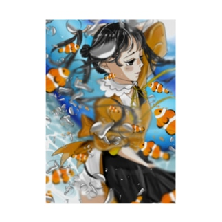 Anemone fish Stickable poster