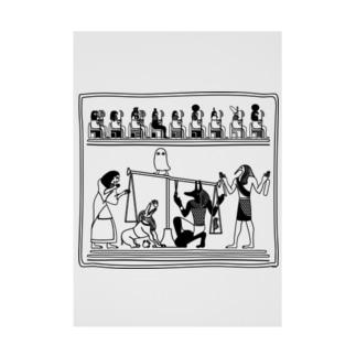 らくがきシリーズ★エジプトの神様たち Stickable tarpaulin