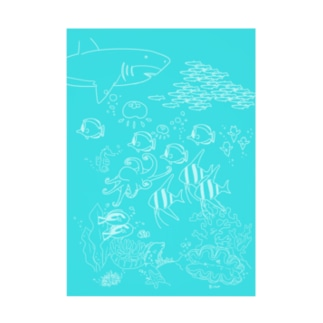 海の下の世界 Stickable poster