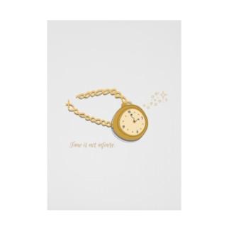 Time is not infinite. (時間は無限じゃない) Stickable tarpaulin