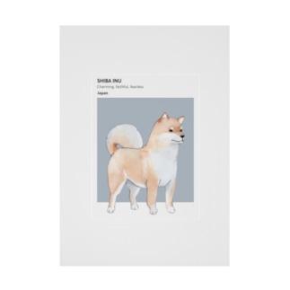 柴犬 ID Stickable poster