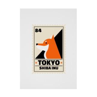 柴犬 東京 Stickable poster