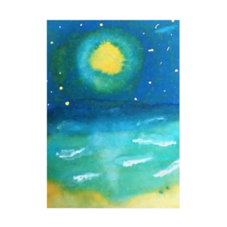 sea the moon Stickable tarpaulin