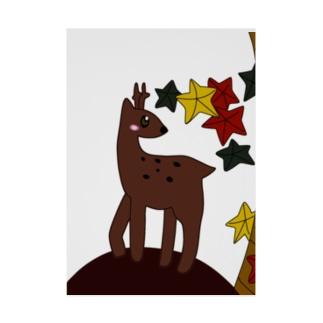 鹿と紅葉 Stickable tarpaulin