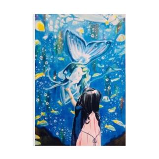 人魚と友達になりたいの Stickable tarpaulin