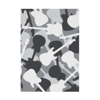 ギター迷彩 (グレー) Stickable tarpaulin