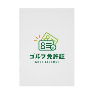 ゴルフ免許証 Stickable poster