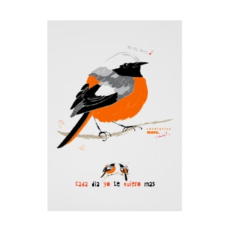 MARU ジョビ丸(大)まるい小鳥 まる過ぎる ジョウビタキ Stickable tarpaulin