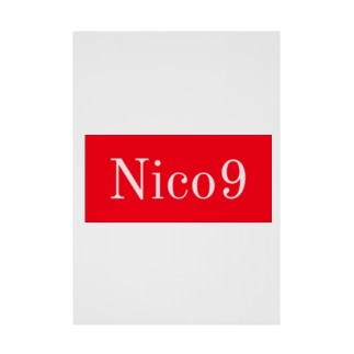 Nico9レッドロゴ Stickable tarpaulin