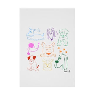 earlyalilyのcolorful & wonderful Stickable poster