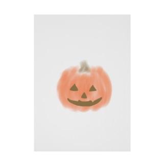 かぼちゃ Stickable tarpaulin
