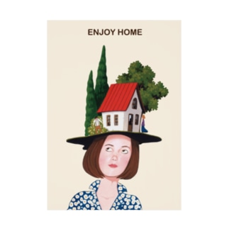 ENJOY HOME Stickable poster