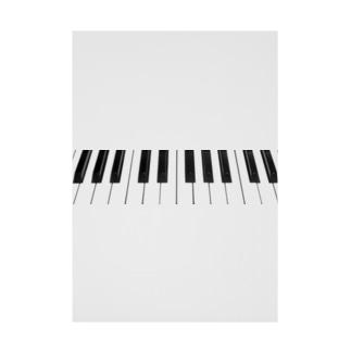 ピアノ鍵盤 シンプル Stickable poster
