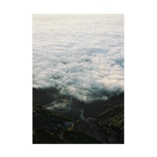 朝日と雲海と Stickable poster