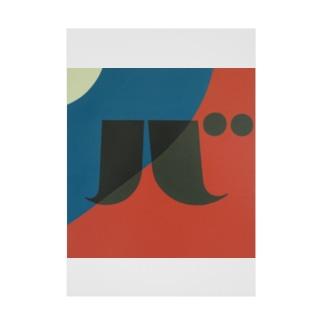 Kaleidoscope 万華鏡 Katakana series バ Stickable tarpaulin