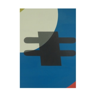 Kaleidoscope 万華鏡 Katakana series キ Stickable tarpaulin