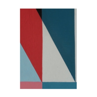 Geometric Letter series - Berry Mint 'M' Stickable poster