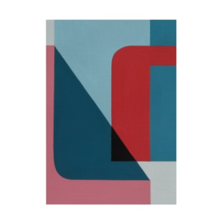 Geometric Letter series - Berry Mint 'U' Stickable poster