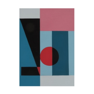 Geometric Letter series - Berry Mint 'H' Stickable poster