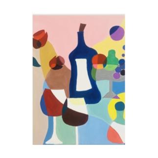 ワイン Stickable poster