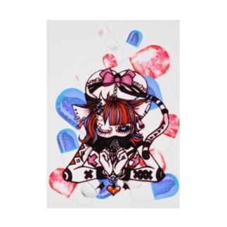 SumiReの人外ちゃん ねこタイプ B Stickable poster