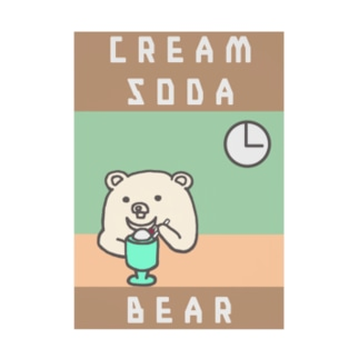 しんぷるくま cream  soda Stickable poster