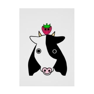 いちごのチーゴくん いちごと牛 Stickable poster