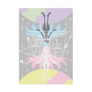 『さっき見た夢、揮発性の記憶』イメージイラスト Stickable poster