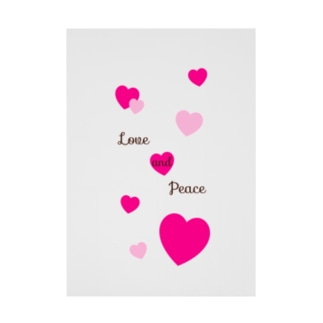 Love and Peace Stickable poster