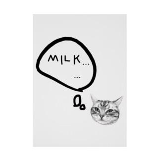 ミルクほしいネコ Stickable poster