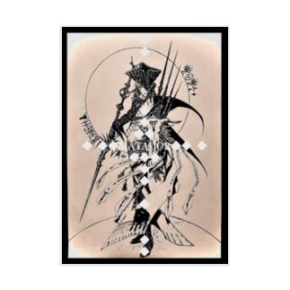 干支丑《Luchador de las sombras》 Stickable poster
