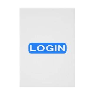 LOGIN ー片面プリント Stickable poster