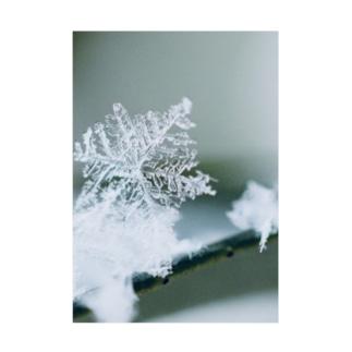 雪の結晶 Stickable poster