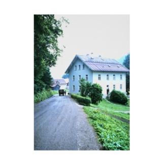 FUCHSGOLDのドイツ:シュヴァンガウの風景写真 Germany: view of Hohenschwangau near around Schloss Neuschwanstein Stickable poster