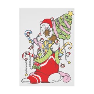 クリスマスだ!シロクマだ! (メニー?クリスマス) Stickable tarpaulin