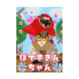ぽてずきんちゃん Stickable poster