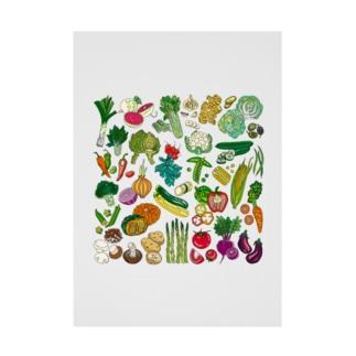野菜ラブラブ。 Stickable poster