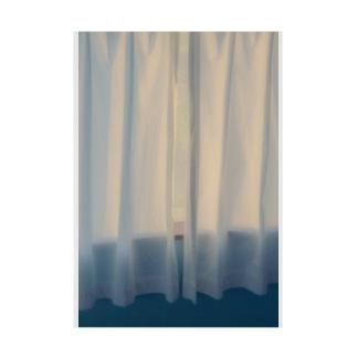 夕焼けカーテン Stickable poster
